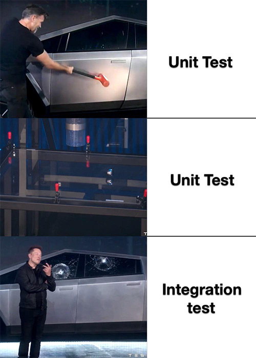 Cybertruck Meme - Unit test