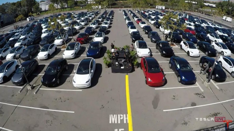 Tesla Battery Day Drive-in