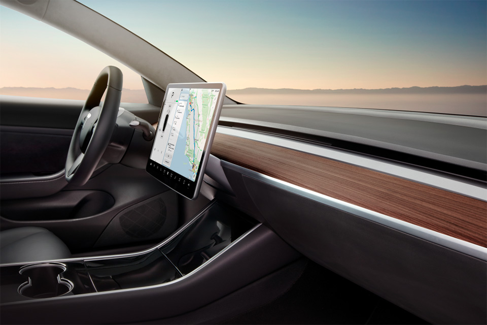 Tesla Model 3 interieur