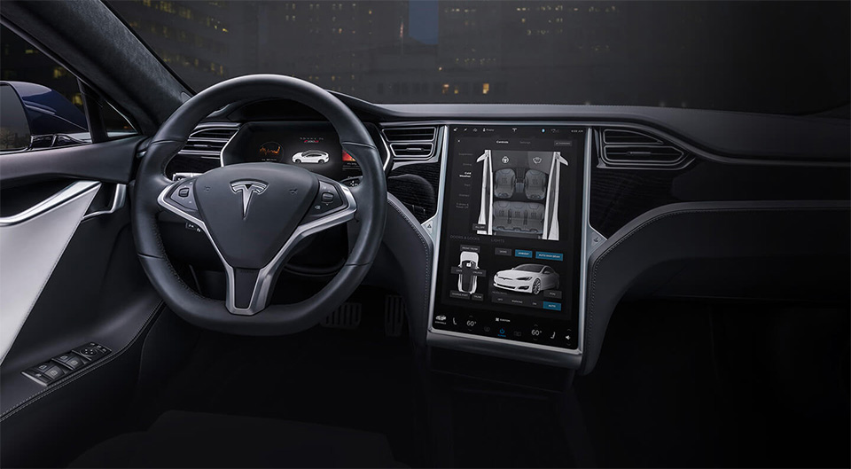 Tesla Model S - Interieur