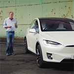 Tesla Model X review door Jeremy Clarkson