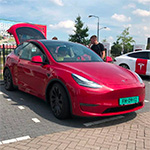 Tesla Model Y gespot in Nederland